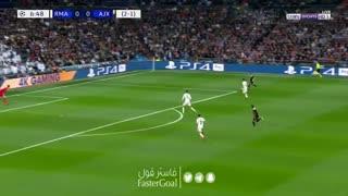گل اول آژاکس به رئال مادرید توسط زیاش
