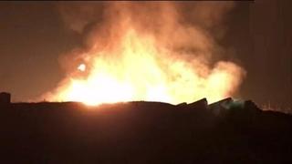 انفجار مهیب لوله اصلی گاز در طالقان