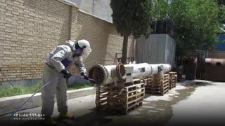 استفاده از واترجت صنعتی در شستشوی مبدل حرارتی