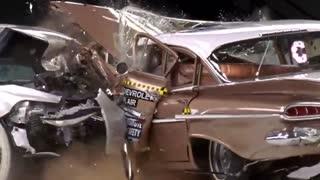 تفاوت ایمنی میان  شورلت 1959 و 2009 هنگام تصادف