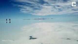 مناظری زیبا از بزرگترین دریاچه نمک جهان در بلیوی