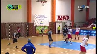 دیدار تیم های چسمه بخارست و دینامو بخارست در زیمبریلور لیگ ملی هندبال رومانی2018/19