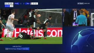 خلاصه دیدار پاریسنژرمن 1_3 منچستر یونایتد (دور برگشت مرحلۀ یکهشتم نهایی لیگ قهرمانان اروپا)