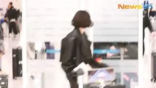 نفس بی نام(پارک شین هه)در فرودگاه پاریس در حال بازگشت به کره 2019 FULL HD کمیاب ویدیو کامل