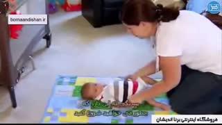 بازی با نوزادان تا شش ماهگی به چه شکلی است؟
