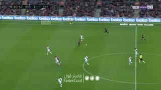 گل سوم بارسلونا به رایو وایکانو توسط لوییز سوارز