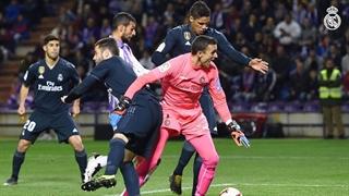 گل اول رئال مادرید به رئال وایادولید توسط رافائل واران