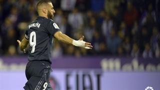 گل سوم رئال مادرید به رئال وایادولید توسط کریم بنزما