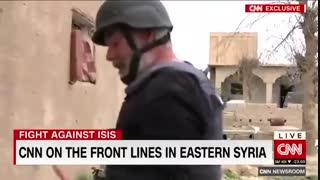 تصاویر اختصاصی CNN از نبرد در روستای «الباغوز» دیرالزور سوریه میان نیروهای کُرد و تروریستهای داعش