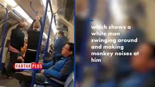 رفتار نژادپرستانه چند جوان انگلیسی در مترو