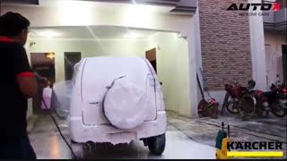 کاربرد کارواش خانگی کارچر ۱۱۰ بار مدل K2 Compact Car