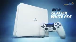 کنسول سونی مدل PS4 Pro رنگ سفید شیشهای!