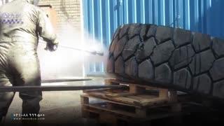 استفاده از واترجت صنعتی فوق فشار قوی در برش لاستیک