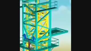 مراحل ساخت و پیاده سازی جرثقیل تاور کرین (جرثقیل برجی)