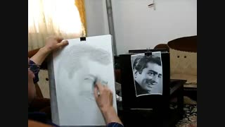 طراحی مرحله ای  سیاه قلم  چهره
