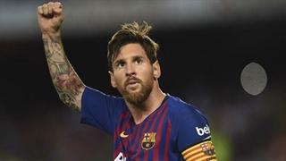 گل سوم بارسلونا به لیون توسط لیونل مسی