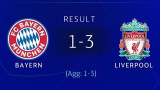 خلاصۀ دیدار بایرن مونیخ 1_3 لیورپول (مرحلۀ یک هشتم لیگ قهرمانان اروپا)