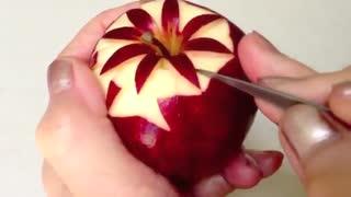 تزئین و مدل دادن ساده و زیبا به سیب
