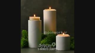 شمع های استوانه ای سیمانی