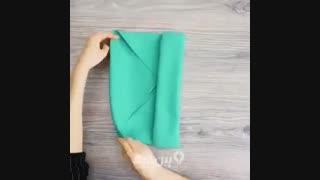 تا کردن دستمال بشقاب