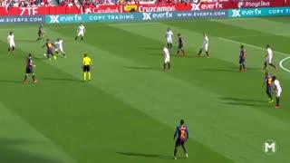 حرکات تکنیکی فوقالعاده از لیونل مسی