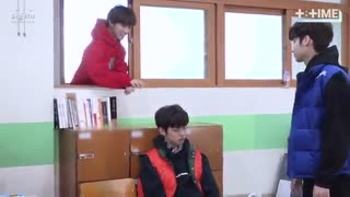 [T:TIME] Cute trick on sleeping boy!