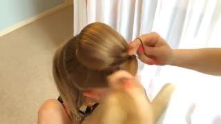 آموزش شینیون - آموزش آرایش مو - شینیونه دخترانه - زیبایی سنتر