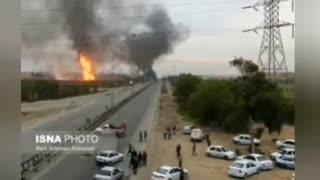 گزارش کامل از ترکیدن لوله گاز در اهواز