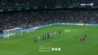 گل اول بارسلونا به رئال بتیس توسط مسی