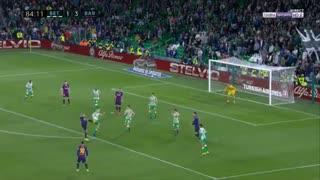 گل چهارم بارسلونا به بتیس توسط مسی