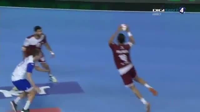 دیدار تیم های ملی هندبال روسیه و قطر در مسابقات هندبال قهرمانی مردان جهان2019
