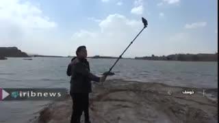 آبگیری تالاب گواب در خوسف بیرجند بعد از 17 سال