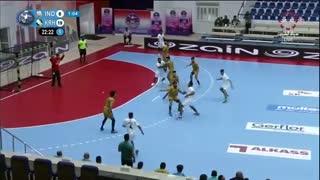 دیدار تیم های  الکرخ العراق و تی اسپورت هند در قهرمانی هندبال باشگاه های  آسیا2019