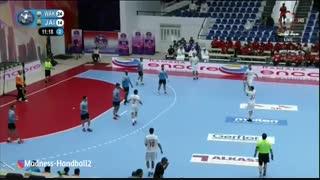دیدار تیم های الوکره قطر و الجیش سوریه  در قهرمانی هندبال باشگاه های  آسیا2019
