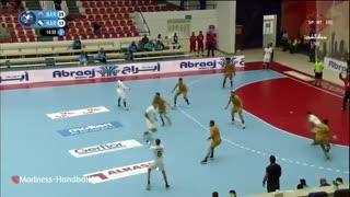 دیدار تیم های بار بار بحرین و الکرخ عراق در قهرمانی هندبال باشگاه های  آسیا2019