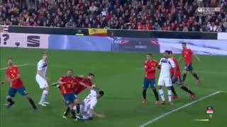 خلاصه دیدار اسپانیا 2_1 نروژ (مقدماتی یورو 2020)