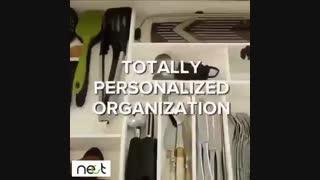 با کمى #خلاقیت به کشو هاى #کابینت خود نظم بدین یه #ایده کاربردى جهت #طراحى #دکوراسیون #آشپزخانه |nect.ir