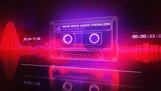 دانلود پروژه آماده افتر افکت موزیک پلیر با ویژولایزر - Neon Wave Audio Visualizer