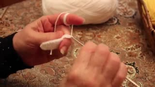آموزش بافتنی و قلاب بافی ( گرد بافی قسمت ۳ ) توسط خانم منیژه غفاری