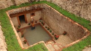 ساخت استخر و اتاقک زیر زمینی با دست