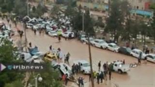 سر ریز شدن سد خاکی روستای جبل بخش کوهپایه شهرستان اصفهان