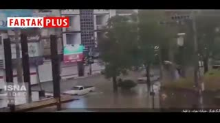 خیابانهای دزفول هم در باران غرق شدند