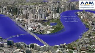 3D City Model: Brisbane Floods, Australia by AAM