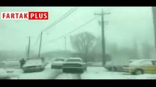 برف سنگین در لرستان؛ مسیر ازنا-درود مسدود شد