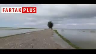 انفجار جاده چارقلی به گمیشان برای بازشدن راه خروج آب