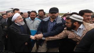 فریادهای بانوی ترکمن در حضور رئیس جمهور