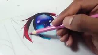 آموزش کشیدن چشم انیمه ای با اشک | How to draw anime eye with tears