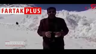 سقوط بهمن ۴ متری در خوانسار
