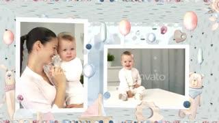 پروژه آماده افتر افکت اسلایدشو آلبوم عکس کودک - Baby Slideshow