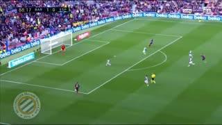 گل دوم بارسلونا به اسپانیول توسط لیونل مسی